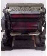 Antique Gestetner Cyclostyle Copy Copying Mimeograph Machine & Case Stea... - $325.17