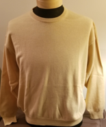 100% Cashmere Tan Crew Neck Sweater - $30.00