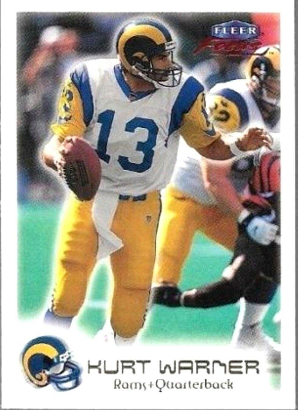 Kurt Warner RC 1999 Fleer Focus Premiere Rookie Card#40-St. Louis Rams QB RC