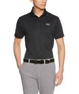 Under Armour Herren Performance Polo, Schwarz/Stahl, Klein - $44.54