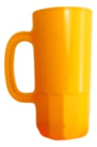 6 Large Yellow 22 Oz Beer Mugs Made USA Lead Free Beer Steins Tops in Qu... - $29.56