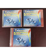 Trisonic 5 Colorful Ultra-thin CD Cases / Lot Of 3 - $9.50