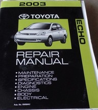 2003 TOYOTA ECHO Service Repair Shop Workshop Manual NEW Factory - $232.65