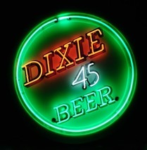 "Rare New Dixie Beer Lager Bar Decor Artwork Neon Sign 24""x24"" - $196.35"
