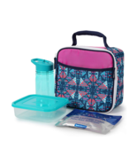 Arctic Zone Insulated Lunch Box w Container Water Bottle ice pack Pink B... - $16.01