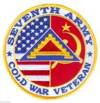 """SEVENTH 7TH ARMY  COLD WAR VETERAN  4"""" EMBROIDERED MILITARY PATCH - $18.04"""