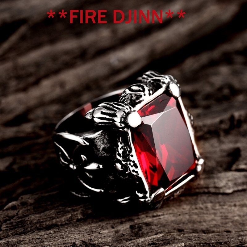 Primary image for FIRE DJINN  VOODOO RING EXTREME WEALTH  HUGE SUCCESS  BURN OTHERS WITH DE