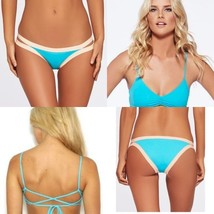 NWT L SPACE XS swimsuit bikini 2PC turquoise strappy Haley top Charlie bottom - $86.33