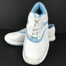 Brunswick Silk Women's Bowling Shoes L-002 White Blue Size 9 FlexSide Te... - $34.64