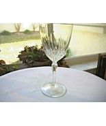 Set of 5 Cristal D'Arques Durand Diamant Pattern Crystal Water Goblets - $17.82