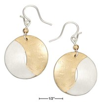 Sterling Silver And 12 Karat Gold Filled Interlocking Half-moons Dangle ... - $44.99