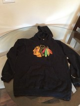 Chicago Blackhawks Reebok Hoodie Sweatshirt Youth Medium Good Condition - $8.90