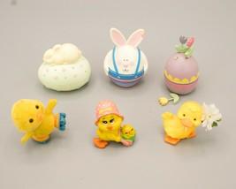 Lot of 6 Vtg 1980s Figures Hallmark W Berry Russ Cuties Duck Bunny Egg F... - $12.95