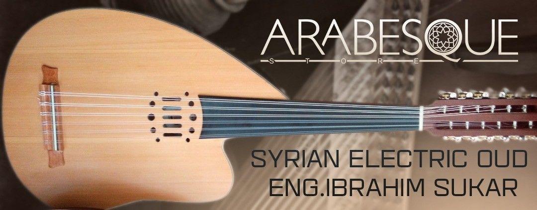 Syrian Ibrahim Sukar Multi Oud  Fretless 12 String Electric Oud string