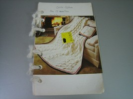 Vintage Crocheted Cable Afghan Instruction Booklet - $4.94