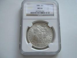 1885 , Morgan Silver Dollar , NGC , MS 64 - $89.10