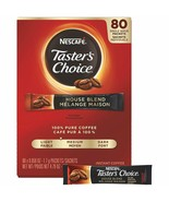 NESCAFE COFFEE TASTERS CHOICE HOUSE BLEND REGULAR GROUND STICK PACK 80CT - $18.60