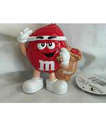 M Ms Red Christmas Holiday Ornament Kurt S. Adler Carrying Christmas Bag... - $4.99