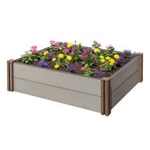 Garden Beautification Tool in Composite Modular Wood Plastic Raised Gar... - $127.76