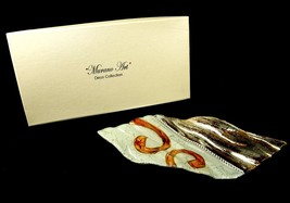 Murano Art Deco Glass Dish, Leaf Shape, Cassiani Collection, w/Gift Box, #8552 - $8.77