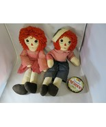 Nice couple Raggedy Ann & Andy doll 70s space age décor homemade vintage - $20.00