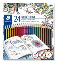 Staedtler 185 C24JB Noris Coloured Pencil with Adult Colouring Design, Assorted - $6.26