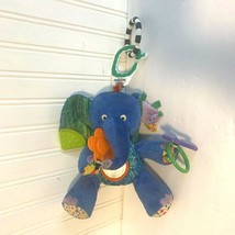 Eric Carle Plush Elephant Mobile Blue 2007 Stuffed Animal Toy - $14.85