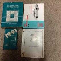 1991 Ford TAURUS & Mercury SABLE Repair Service Shop Manual Set W EVTM +... - $19.75