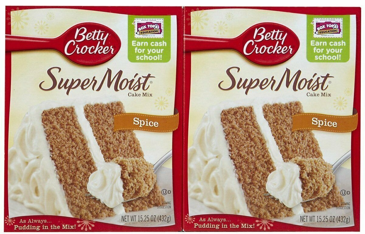 Betty Crocker Super Moist Spice Cake Mix - 15.25 oz - 2 pack AUGUST 2019