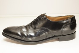 Johnston & Murphy Size 14 Narrow Black Oxford Wing Tip Broque - $86.00