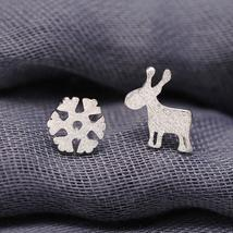 Frosted Deer And Snowflake Studs Combined Shipping! (1566) - $2.25