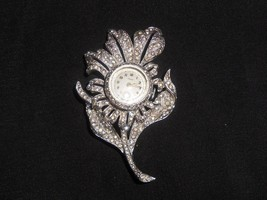 Vintage Brooch Watch Floral Flower Swiss Made Mechanical - $19.00