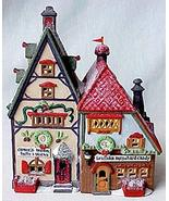 DEPT.8 North Pole Series Obbie's Books and Letrinka's Candy Porcelain House - $34.53