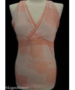Lululemon 12 Peach Floral Fitness Running V Back Bra Tank Top Mesh Back - $29.00