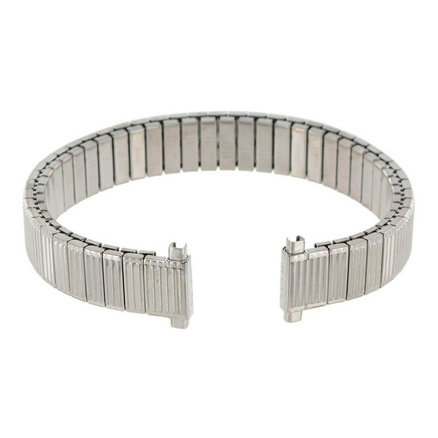Primary image for Speidel Watch Band 10-13mm Ribbed Stainless Steel Expansion Ladies SHIPSFREE