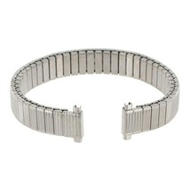 Speidel Watch Band 10-13mm Ribbed Stainless Steel Expansion Ladies SHIPSFREE - $12.95