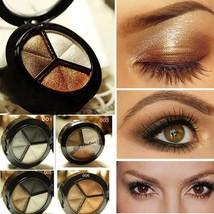 3 Colors matte eyeshadow palette 3 Professional Smoky glitter eyeshadow+... - $3.99