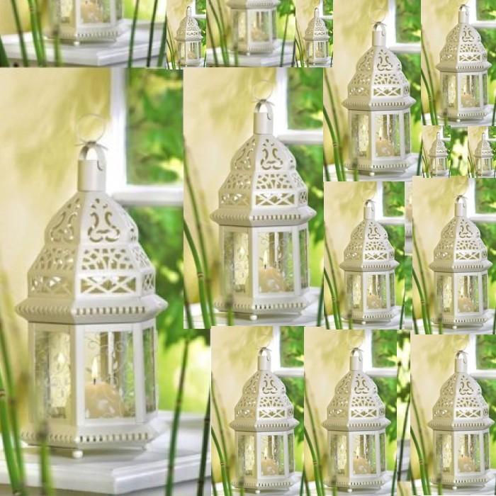 20 White Moroccan Style Lantern Candleholder Wedding Centerpieces