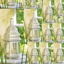 20 White Moroccan Style Lantern Candleholder Wedding Centerpieces image 1