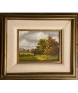 VNTG ORIGINAL SIGNED OIL Painting Impressionism Landscape, Framed  **EXC... - $329.99