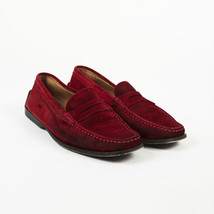 Tod's Red Suede Square Toe Loafers SZ 7.5 - $70.00
