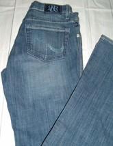 Rock & Republic Kasandra Bootcut Womens Jrs Jeans Sz 4 Blue Rhinestone P... - $11.98