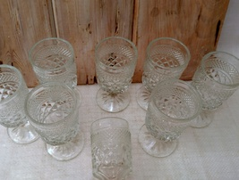 Set of 8 ANCHOR HOCKING WEXFORD WINE GOBLETS 5- 1/4 in. H     image 5