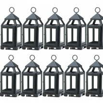 "Lot 10 BLACK 8.75"" Mini Lantern Small Candle Holder Wedding Centerpieces - $96.03"