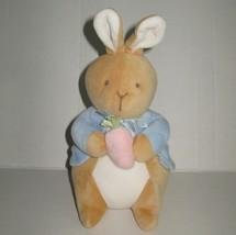 EDEN My First Peter Rabbit Plush Baby Toy Lovey Soft Velour Carrot Vtg Potter  - $34.19