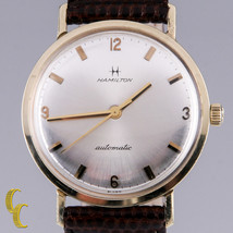 Hamilton Men's 14K Yellow Gold Automatic Watch w/ Brown Leather Band - $690.15