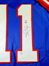 PHIL SIMMS / SUPER BOWL MVP / HAND SIGNED N.Y. GIANTS BLUE CUSTOM JERSEY / COA image 4