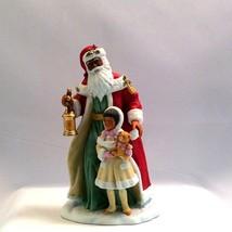 Santa Porcelain Figurine African-American 1995 Avon Decoration - $24.95