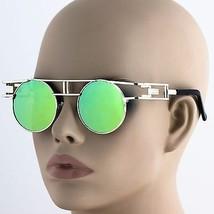 Mens Women Retro Fashion Round Metal Frame Sunglasses Mirrored Lens Glasses - $10.84+