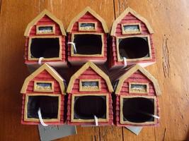 Set Of 6 Patriotic Barn Resin Napkin Rings Hold... - $24.45
